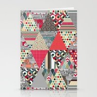 London Triangle Quilt Stationery Cards
