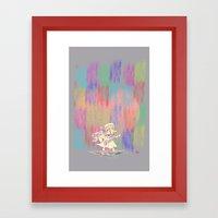 MAMA OUDA WHEN IT RAINed Framed Art Print