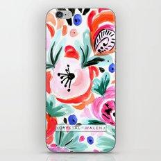 Tropical Sunrise Morning Glory Boho Watercolor Floral iPhone & iPod Skin