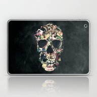 Laptop & iPad Skin featuring Vintage Skull by Ali GULEC