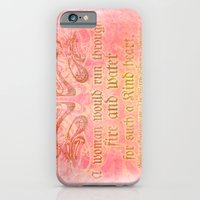 A woman would run through fire - Shakepeare Love Quote iPhone 6 Slim Case