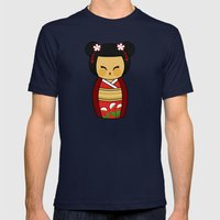 Kokeshi Ai  Mens Fitted Tee Navy SMALL