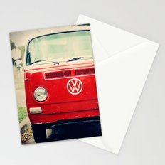 Red VW Bus Stationery Cards