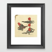 Lego Dragon Framed Art Print
