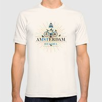 amsterdam & istanbul Mens Fitted Tee Natural SMALL
