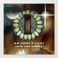 I Am Come A Light Into T… Canvas Print