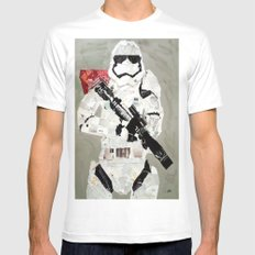 FIRST ORDER STORM TROOPER Mens Fitted Tee SMALL White