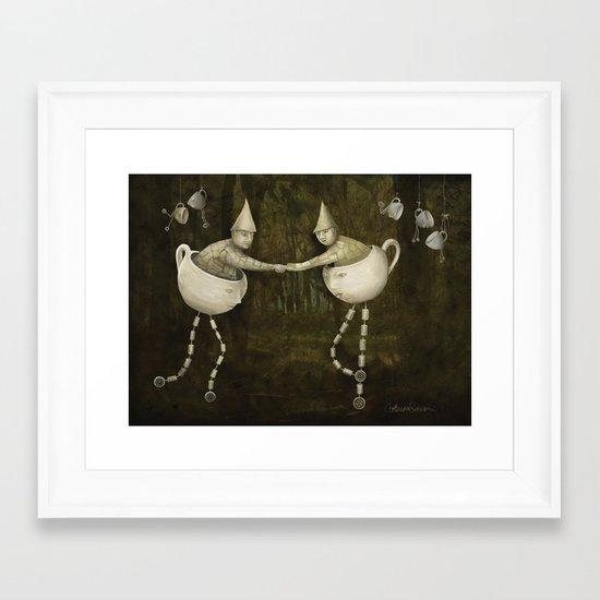 Teacup Greetings Framed Art Print