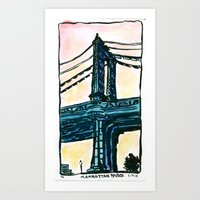 Manhattan Bridge - New York Art Print