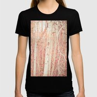 White Birch Trees Womens Fitted Tee Black SMALL