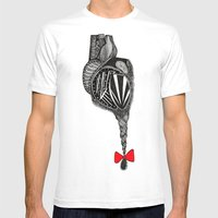 Hairy Heart Mens Fitted Tee White SMALL