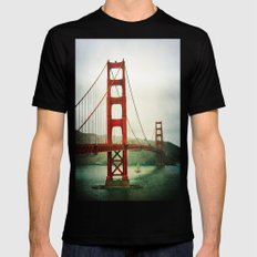 Golden Gate Black Mens Fitted Tee SMALL