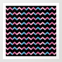 Geometric Chevron Art Print