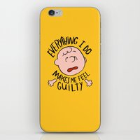 CHARLIE BROWN iPhone & iPod Skin