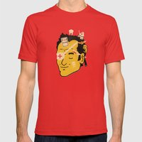 Quentin Mens Fitted Tee Red SMALL