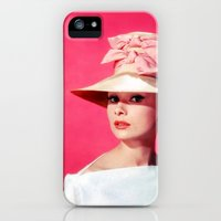 iPhone 5s & iPhone 5 Cases featuring Audrey Hepburn Pink Version - for iphone by Simone Morana Cyla
