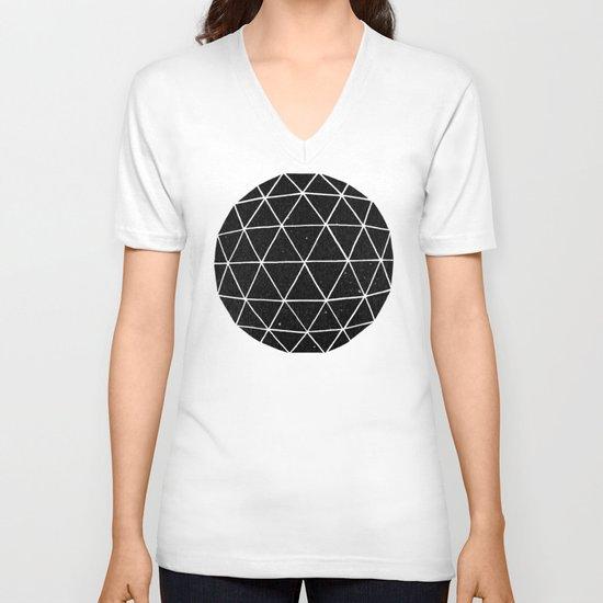 Geodesic V-neck T-shirt