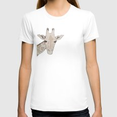 Giraffe Womens Fitted Tee White SMALL
