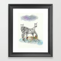 Catacorn Framed Art Print