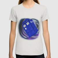 In the Vortex Womens Fitted Tee Silver SMALL