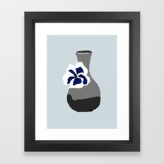 Vase with Pansy Framed Art Print
