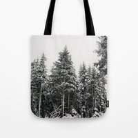 Snowy Paradise Tote Bag