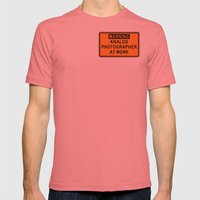 WARNING: ANALOG PHOTOGRA… Mens Fitted Tee Pomegranate SMALL