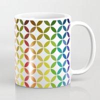 abstract round shapes background circle geometry illustration Mug