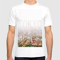 Rainy Tokyo Mens Fitted Tee White SMALL