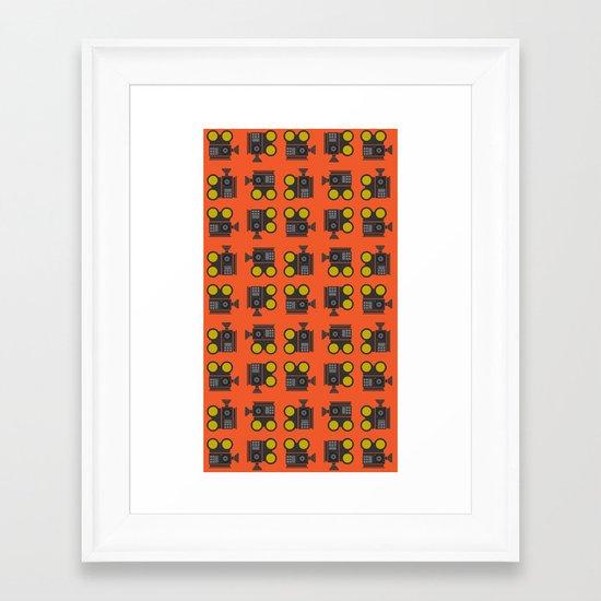 camera 01 pattern Framed Art Print