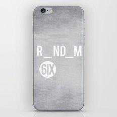 R_ND_M 6IX iPhone & iPod Skin