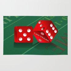 Craps Table & Red Las Vegas Dice Rug