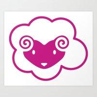 PINK SHEEP Art Print