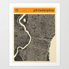 PHILADELPHIA MAP Art Print