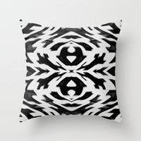 Arrow Tribe Black & Whit… Throw Pillow