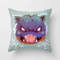 Raging Blastoise Throw Pillow