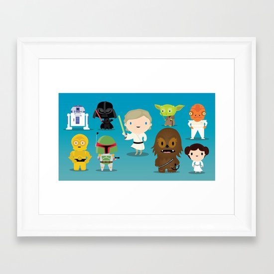 The force Framed Art Print