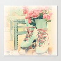 pretty skates Canvas Print