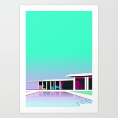 Less than zero Art Print
