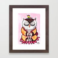 Zen Owl  Framed Art Print