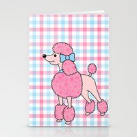Pink Poodle Stationery Cards