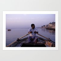 On The Ganges Art Print