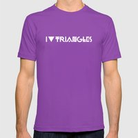 I Heart Triangles Mens Fitted Tee Ultraviolet SMALL