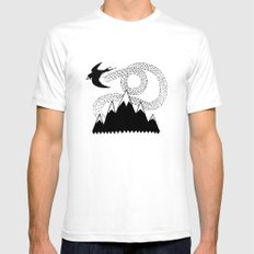 Mountain Swallow SMALL White Mens Fitted Tee