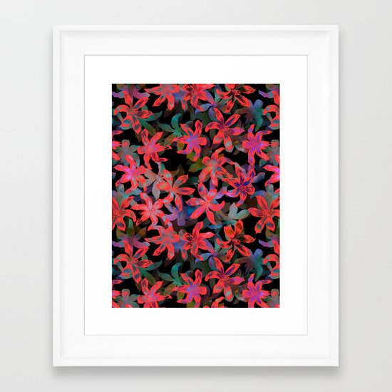Tropical Serenade - Black Framed Art Print