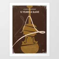 No268 My 12 years a slave minimal movie poster Art Print