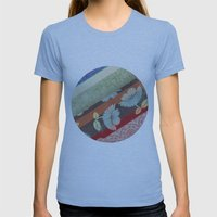 Color Strips Womens Fitted Tee Athletic Blue SMALL