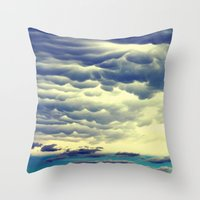 Mammatus Clouds II Throw Pillow