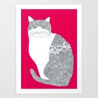 Pink-Cat Art Print