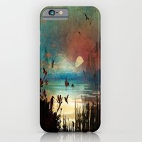 iPhone & iPod Case featuring A Relaxing Evening On The Pond by Robin Curtiss